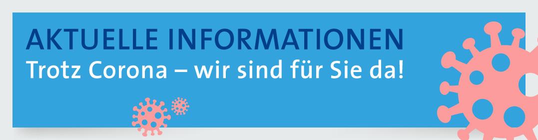 Banner Informationen zu Corona